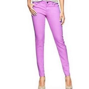 Gap Always Skinny Purple Neon Violet Color Jeans